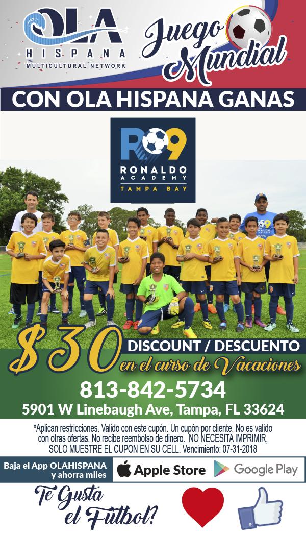R 9 Escuela de Soccer Futbol